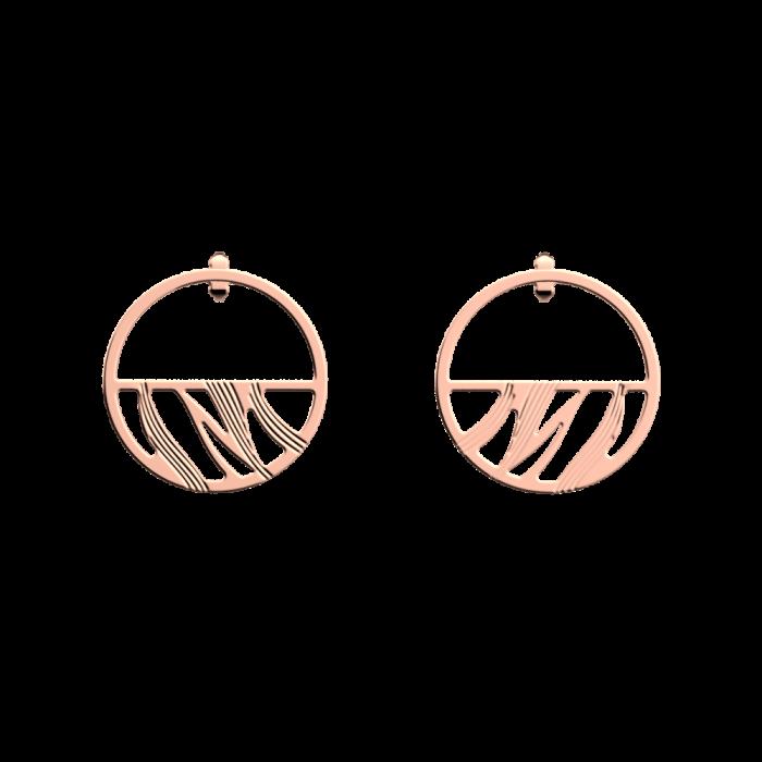 Boucles d'oreilles Les Georgettes Les Essentielles Vibrations, finition dorée rose, 30mm