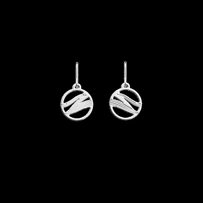 Boucles d'oreilles Les Georgettes Les Essentielles Vibrations, finition argentée, 16mm