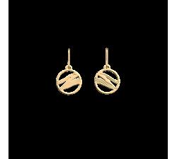 Boucles d'oreilles Les Georgettes Les Essentielles Vibrations, finition dorée, 16mm