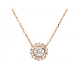 COLLIER DIAMANTS OR ROSE