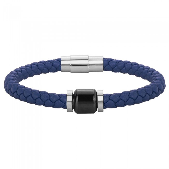 Bracelet souple mono-motif Acier homme PHEBUS ACIER POUR LUI