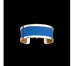 Manchette Pure Finition Argentée -  Bleu Vif / Moutarde