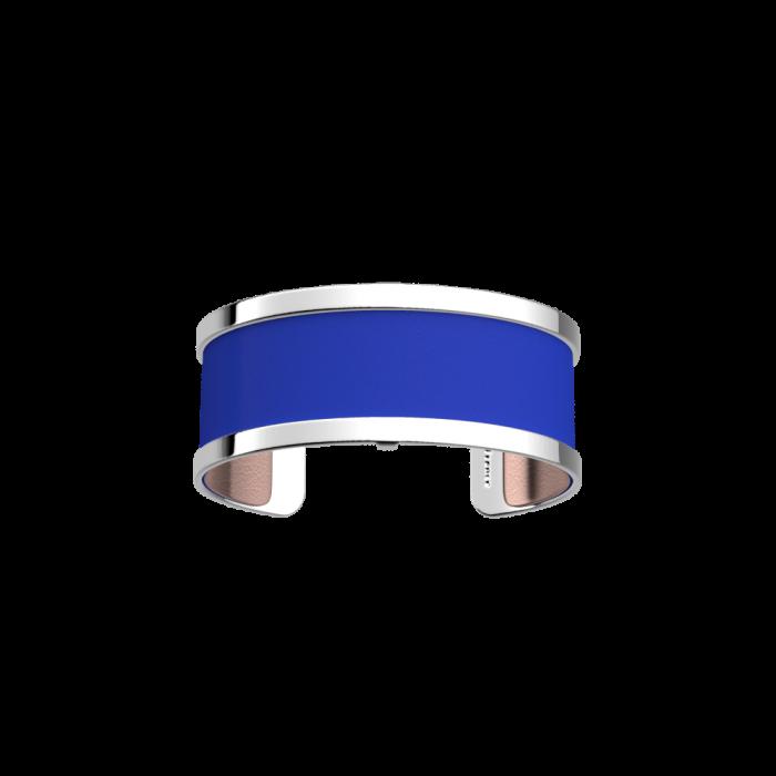 Manchette Pure Finition Argentée -  Bleu Outremer / Rose Sirène