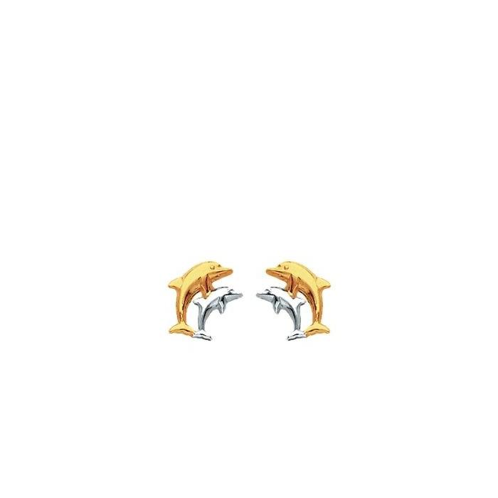 Boucles d'oreilles 2 dauphins