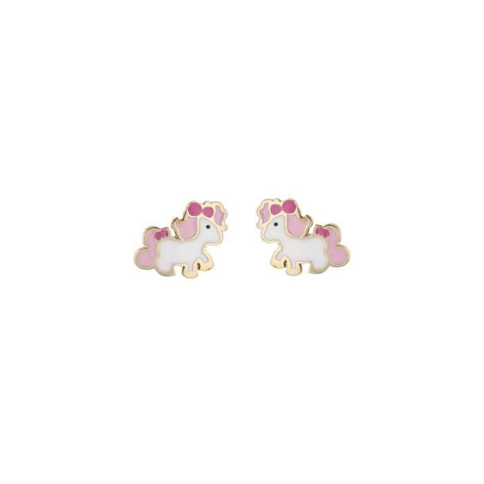 Boucles d'oreilles LICORNE EMAIL