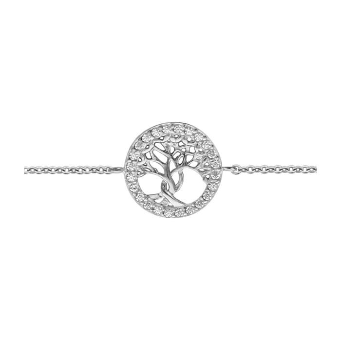 Bracelet Arbre de Vie, argent et oxydes