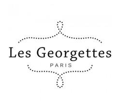 Boucles d'oreilles créoles Les Georgettes Les Essentielles Bleuet, finition dorée, 30mm