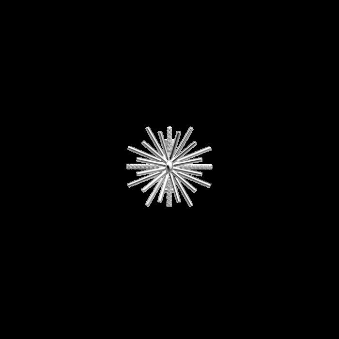 Clip Les Georgettes Les Coutures Passiflore, finition argentée, 25mm