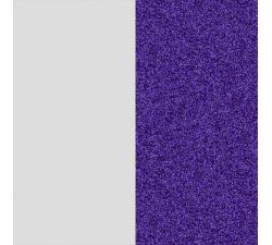 Cuir pour manchette Les Georgettes  14mm Blanc Liberté / Bleu Paillette