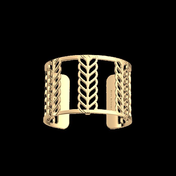 Bracelet Les Georgettes Palme, finition dorée, 40mm