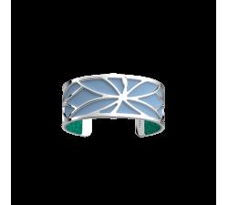 Bracelet Les Georgettes Les Essentielles Luciole, finition argentée , 25mm - Paillettes Turquoise / Bleu Ciel